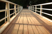 Schedule a wooden bridge — Stock Photo