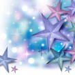 Stock Photo: Glitter Star Background with Twinkles