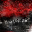 Stock Photo: Red and Black City Grunge Background