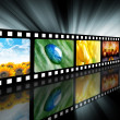 Movie Entertainment Film Reel — Stock Photo
