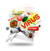 Internet Virus Email on White — Stock Photo
