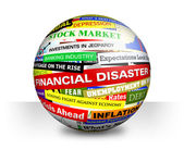Business Financial Bad Economy Headlines — Stock Photo