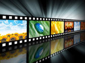 Movie Entertainment Film Reel — Foto Stock