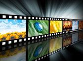 Rolka filmu rozrywka film — Zdjęcie stockowe