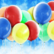 Royalty-Free Stock Photo: Colorful Party Celebration Balloons in Sky