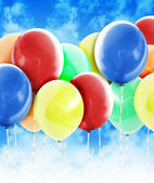Colorful Party Celebration Balloons in Sky — Stock Photo