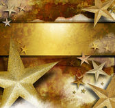 Golden Sparkle Star Background — Stock Photo