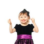Happy smiling girl in success — Stock Photo