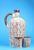 Vidrio y cerámica decanter — Foto de Stock