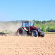 Ploughing tractor — Stock Photo #10411623