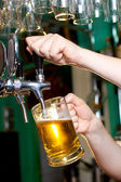 Draft beer — Stock Photo