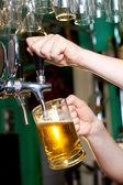 Draft beer — Stock Photo