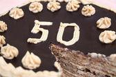 50 Jahre-Kuchen — Stockfoto
