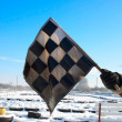Old Checkered Flag — Stock Photo