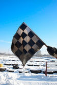 Bandeira quadriculada — Fotografia Stock