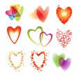 Set of a nine heart — Stock Vector #8990703