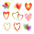 Set of a nine heart — Stock Vector