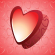 Royalty-Free Stock Vector Image: Red glossy heart