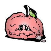 Red sluggish apple — Stock Vector