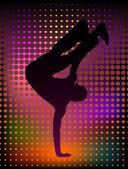 Young breakdancer — Stock Vector