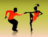 Couple dancing — Stock Vector
