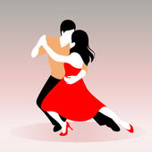 Young couple dancing — Stock Vector