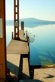 Panoramic Viverone lake view — Stock Photo
