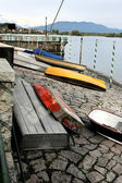 マッジョーレ湖のボート — ストック写真