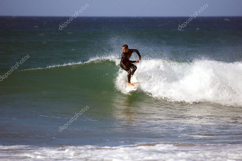 Surfing in ocean — Stock Photo #10348648