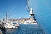 Genova Boat in port — 图库照片