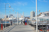 Genova Port and boat — Stock Photo