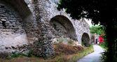 Inside Aragonese castle — Stock Photo