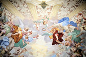 Målning i sacro monte av orta, italien — Stockfoto