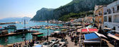 Panoramic view of little port in Capri, Naples — Foto de Stock
