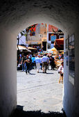 Central Place and tourist in Capri Island, Italy — Stock Photo