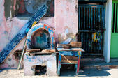 Street colors in Procida Island — Stock Photo