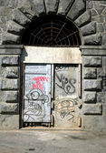 Turin, Murazzi door Graffiti — Stock Photo