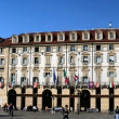 Turin, Piazza Castello with Royal Palace — Stock Photo #9923260