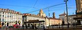 Turin, Piazza Castello — Stock Photo
