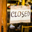 Closed Sign On Shop Door — Foto de stock #8961254