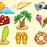 Vacation Vector Pack (summer) — Stock Vector