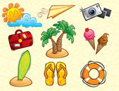 Vacation Vector Pack (summer) — Stock Vector
