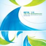 blå och grön abstrakt bakgrund — Stockvektor