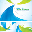 Blue and green abstract background — Stock Vector