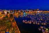 La marina de noche — Stock Photo