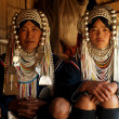 Akha tribe's young bride with mother — ストック写真