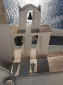 Cycladic Bell tower with wonderful sea view — Stock Photo