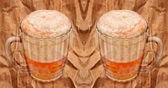 Mugs with beer — Stockfoto