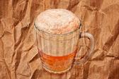 Mug with beer — Stock Photo