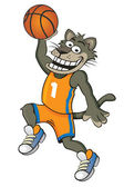 Cat Basketball player — Stock Vector
